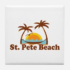 Boca Grande - Palm Trees Design. Tile Coaster