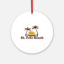 Boca Grande - Palm Trees Design. Ornament (Round)