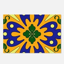 Orange And Blue Spanish T Postcards (Package of 8)