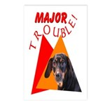 Dachshund Trouble Postcards (Package of 8)