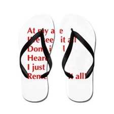at-my-age-optima-red Flip Flops