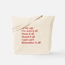 at-my-age-optima-red Tote Bag