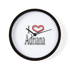 I Heart Adirana Wall Clock