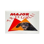 Dachshund Trouble Rectangle Magnet (10 pack)
