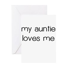 My Auntie Loves Me Greeting Card