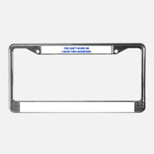 2-daughters-freshman-blue License Plate Frame