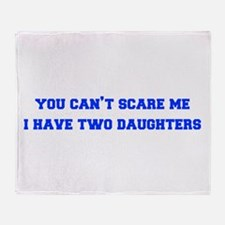 2-daughters-freshman-blue Throw Blanket