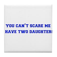 2-daughters-freshman-blue Tile Coaster