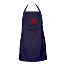 I LOVE MY HOT HUSBAND Apron (dark)