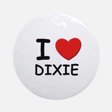 I love Dixie Ornament (Round)