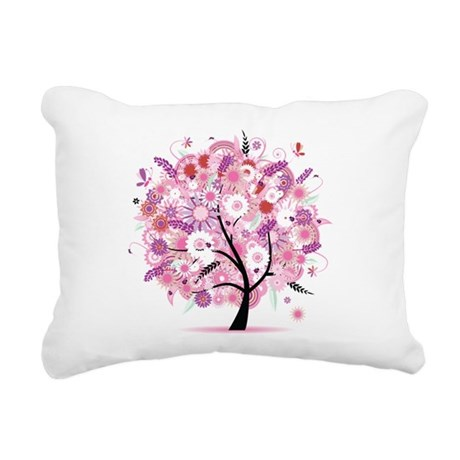 Flower Rectangular Canvas Pillow By Dtufioi454