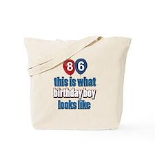 86 year old birthday boy Tote Bag