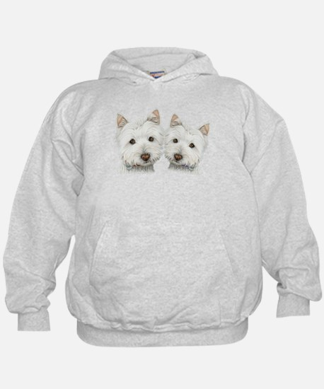 Two Cute West Highland White Dogs Hoody