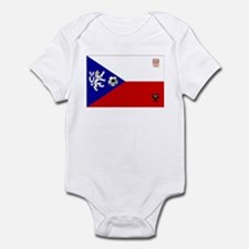 Czech Football Flag Infant Bodysuit