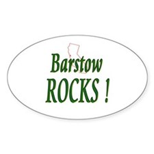 Barstow Rocks ! Oval Decal