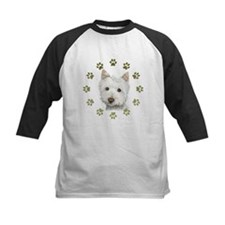 West Highland White and Paws Art Baseball Jersey