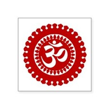 Ornate Om Red Sticker
