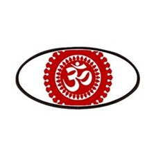 Ornate Om Red Patches