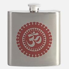 Ornate Om Red Flask