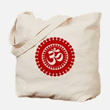 Ornate Om Red Tote Bag