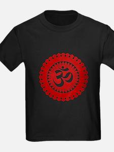 Ornate Om Red T-Shirt