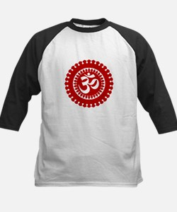 Ornate Om Red Baseball Jersey