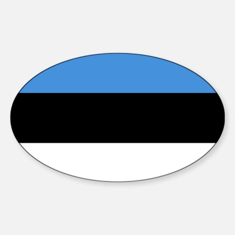 Flag of Estonia Sticker (Oval)