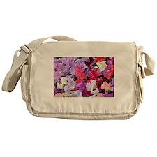 Sweet peas flowers in bloom Messenger Bag