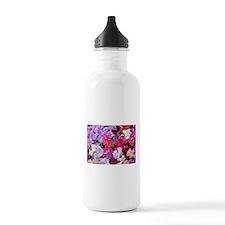 Sweet peas flowers in bloom Water Bottle