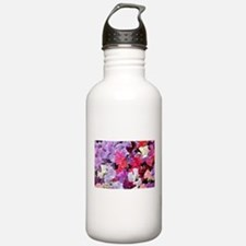 Sweet peas flowers in bloom Water Bottle