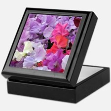 Sweet peas flowers in bloom Keepsake Box