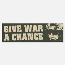 Give War a Chance! Bumper Car Car Sticker