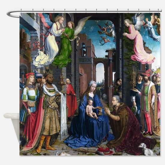 Mabuse: Adoration of the Kings Shower Curtain