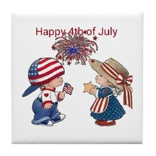 Happy 4th of July Tile Coaster
