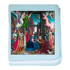 Mabuse: Adoration of the Kings baby blanket