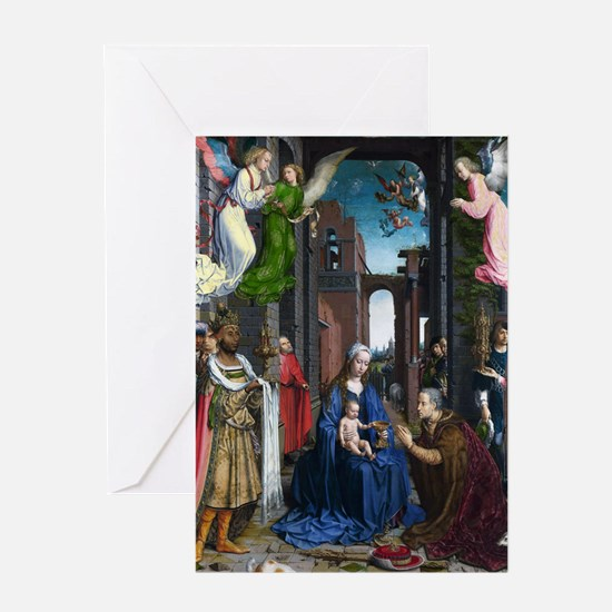 Mabuse: Adoration of the Kings Greeting Card