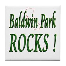 Baldwin Park Rocks ! Tile Coaster