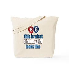 86 year old birthday girl Tote Bag