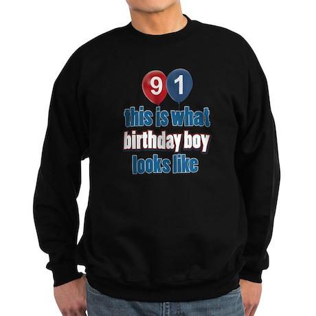 91 year old birthday girl Sweatshirt (dark)