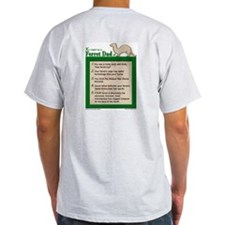 Ferret Dad Ash Grey T-Shirt