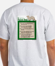 Ferret Dad Ash Grey T-Shirt