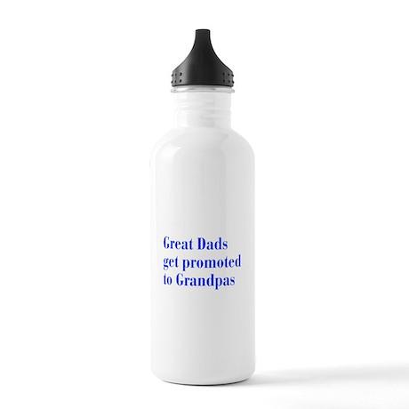 great-dads-bodoni-blue Water Bottle