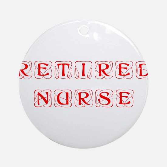 retired-nurse-kon-red Ornament (Round)