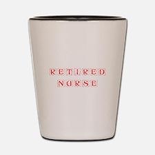 retired-nurse-kon-red Shot Glass