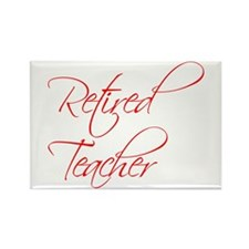retired-teacher-scriptina-red Rectangle Magnet (10