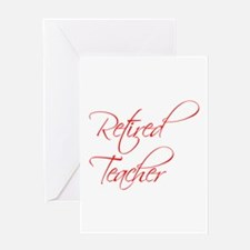 retired-teacher-scriptina-red Greeting Card