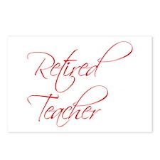 retired-teacher-scriptina-red Postcards (Package o