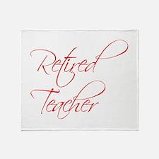 retired-teacher-scriptina-red Throw Blanket