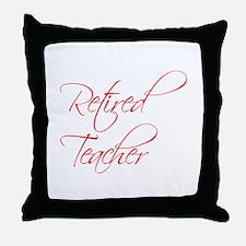retired-teacher-scriptina-red Throw Pillow