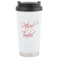 retired-teacher-scriptina-red Travel Mug